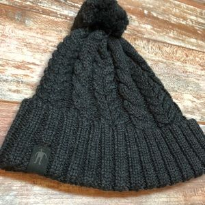 Accessories - Charcoal foldover beanie